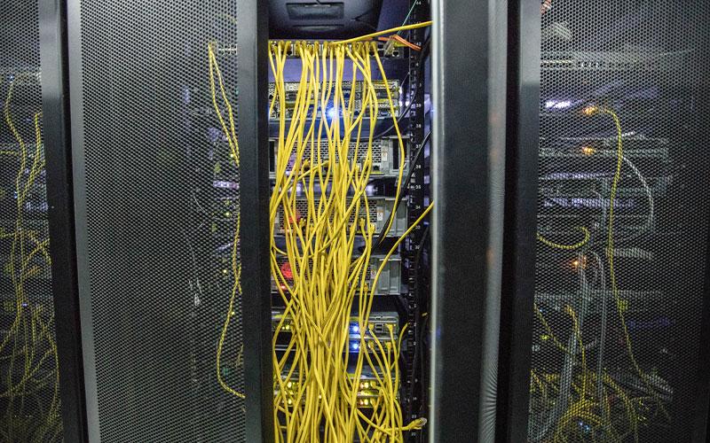 网络机房布线-一角