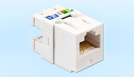 超5类非屏蔽RJ45信息模块打线式 (1)